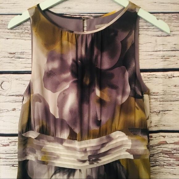 Ann Taylor Flowy Flower Dress Petite. Size 12P